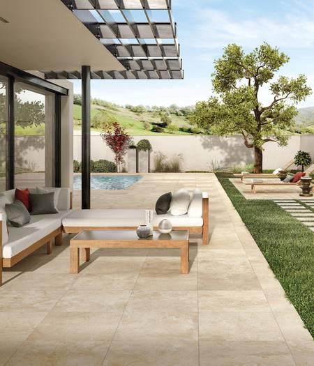 Carreaux de sol en grès épais pour jardins et terrasses