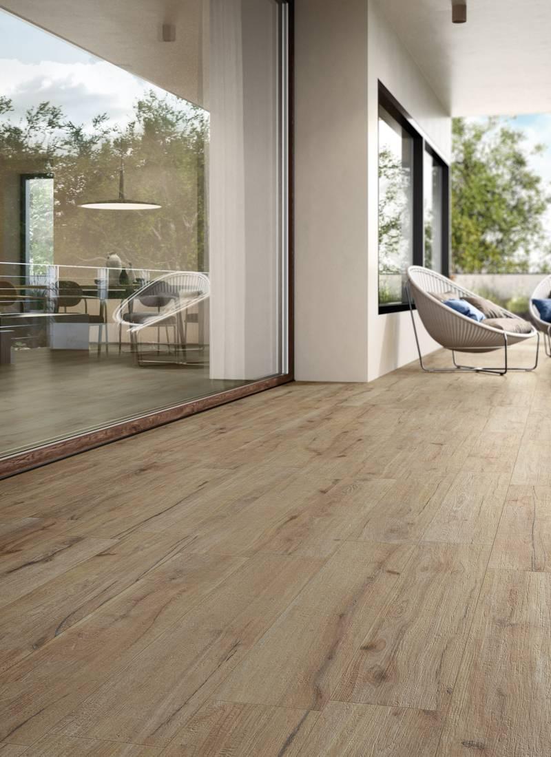Oak wood effect tiles Ekho   Supergres